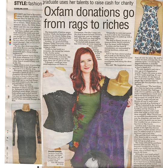 Oxfam Uk, recycled clothing projects